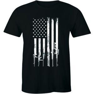 America Flag Gun 2nd Amendment Rifle Men's T-shirt